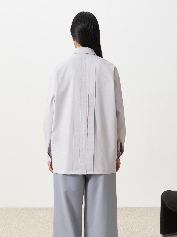 Блуза Marcia со складками сзади, Светло-серый