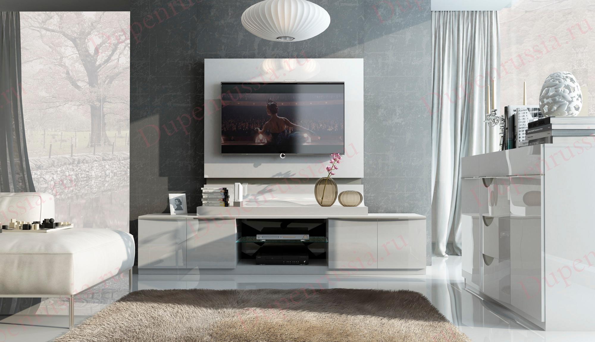 Модуль TV Fenicia Mobiliario 5220 GRANADA белый в интерьере