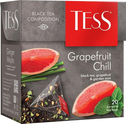 """Чай черный """"Tess"""" Грейпфрут Чилл 20 пирамидок"""