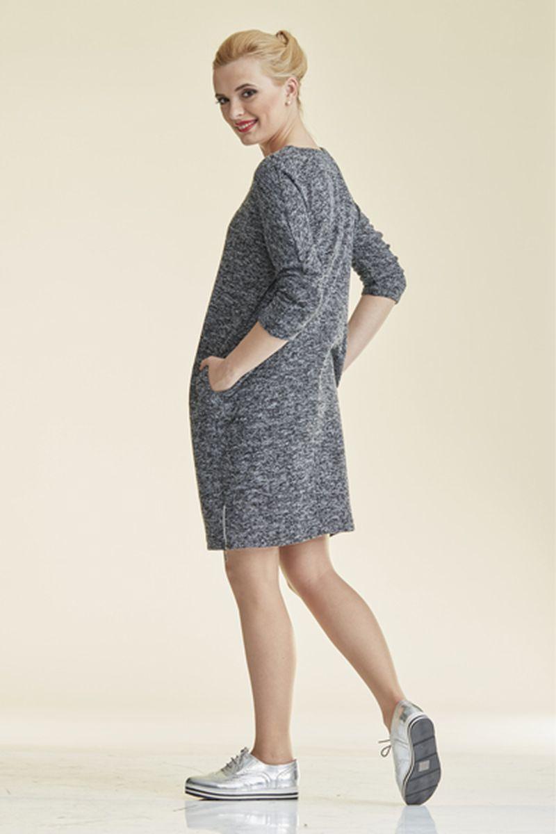 Фото платье-туника для беременных Mama i Ja от магазина СкороМама, серый меланж, размеры.
