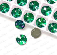Стразы пришивные Rivoli Emerald зеленые для фигурного катания