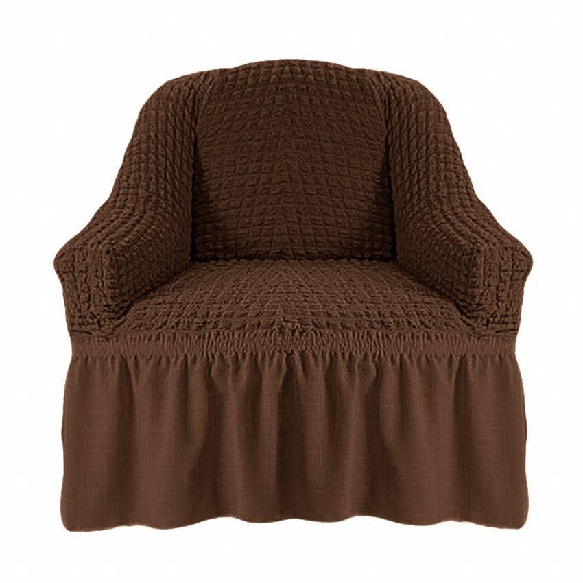 Чехол на кресло, шоколад