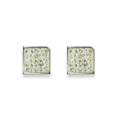 Серьги Coeur de Lion 0117/21-0520 цвет зелёный, серебряный