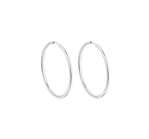 Серебряные серьги-кольца 25 мм