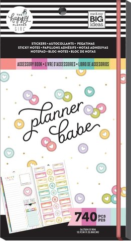 Блокнот со стикерами и стекерблоками Accessory Book - planner babe -740 шт