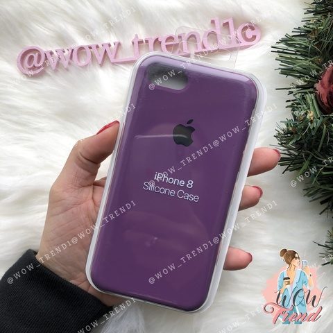 Чехол iPhone 7/8 Silicone Case /purple/ баклажан 1:1