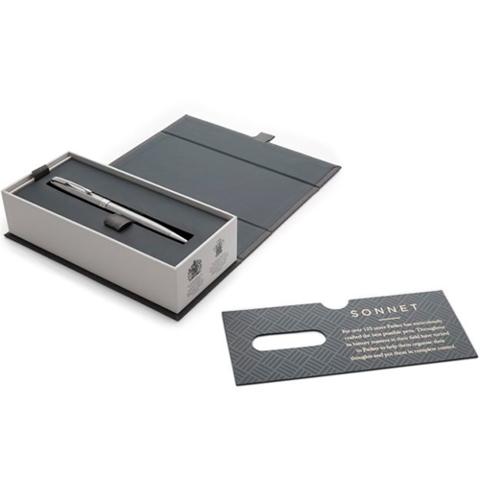Parker Sonnet Core - Stainless Steel GT SLIM, шариковая ручка, M, BL