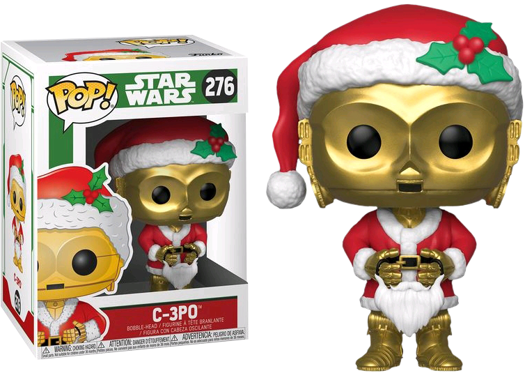 Фигурка Funko POP! Bobble: Star Wars: Holiday: C-3PO as Santa 33888