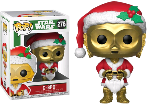 Фигурка Funko POP! Bobble: Star Wars: Holiday: C-3PO as Santa 33888