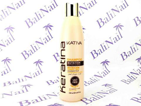 Kativa KERATINA Шампунь для всех типов волос кератиновый укрепляющий, 250 мл