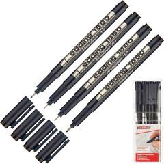 Набор линеров Edding E-1880/4S черные (толщина линии 0.25,0.35,0.5,0.7 мм)
