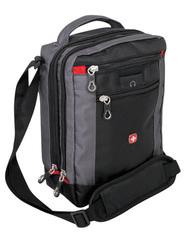 Сумка-планшет Wenger Vertical Boarding Bag, черная/серая, 22х9х29 см