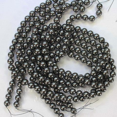5810 Хрустальный жемчуг Сваровски Crystal Black круглый 4 мм, 10 шт