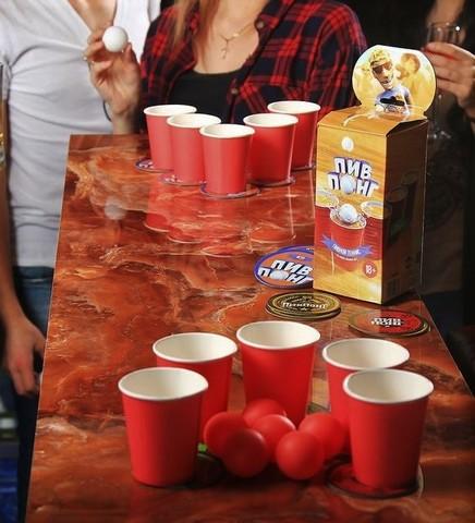 Игра алкогольная «Пив понг»