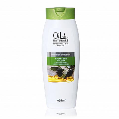 Белита Oil Naturals Крем-гель для душа с маслами оливы и косточек винограда Бережное очищение 430мл