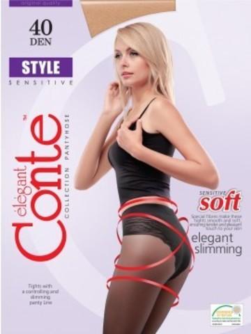 Conte Style Колготки женские 40d, p.2 bronz