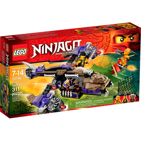 LEGO Ninjago: Вертолетная атака Анакондраев 70746 — Condrai Copter Attack — Лего Ниндзяго