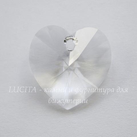 6228 Подвеска Сваровски Сердечко Crystal (18х17,5 мм)