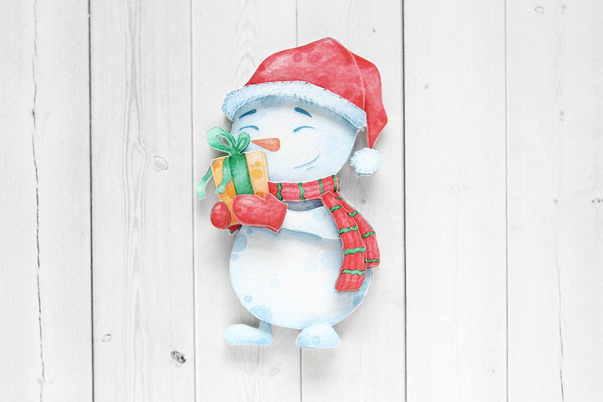 Снеговичок, готовая работа