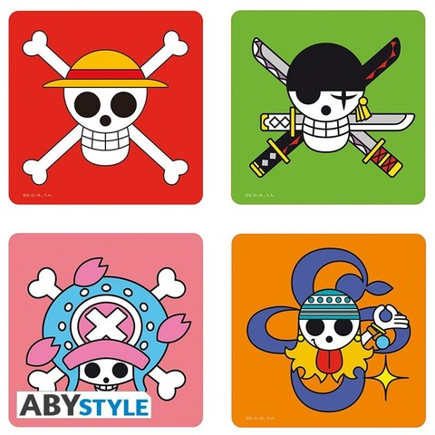 Подставки под напитки ABYstyle: ONE PIECE: Skulls (4шт.) ABYCOS004