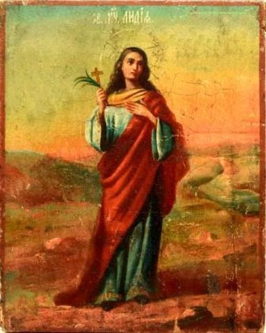 Икона святая Лидия на дереве на левкасе мастерская Иконный Дом