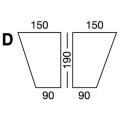 Elastic sheet / model D / white