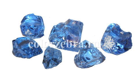 Колотое стекло синее
