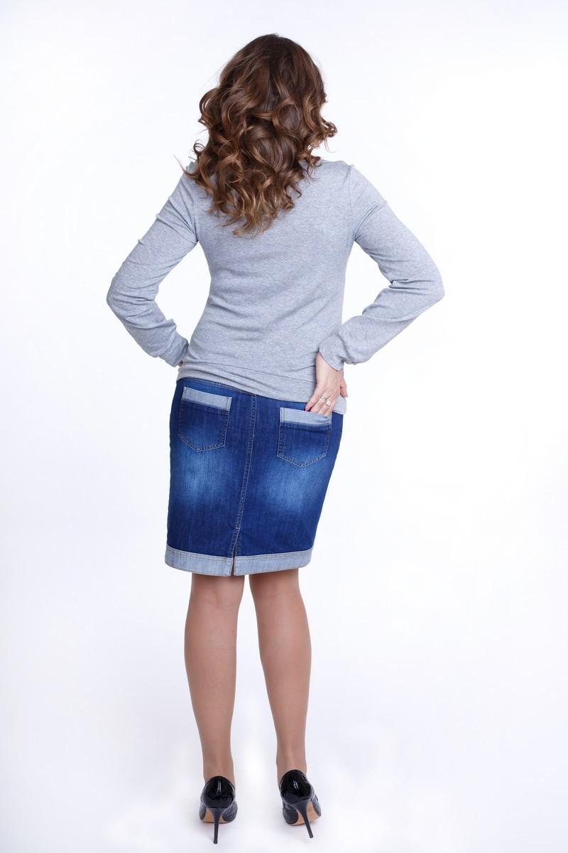 Джемпер для беременных 01817 серый