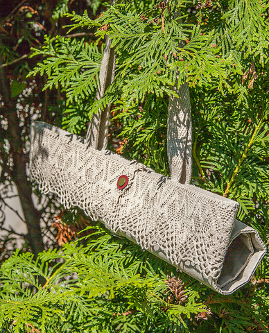Сумка-шоппер с кружевом из текстильного крафта