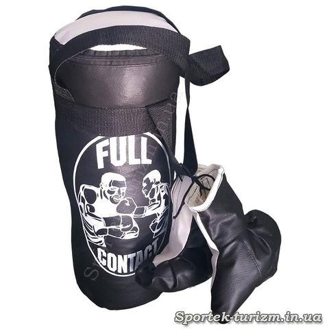 Детский боксерский мешок Full Contact с перчатками (45 на 15 см)