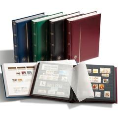 Кляссер для марок COMFORT A4, 64 ЧЕРНЫХ страницы, без шубера, красный