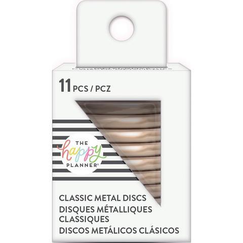 Диски металлические - (крепежный механизм для ежедневников) Happy Planner Expander (Medium- Classic) - Rose Gold- 3.3 см