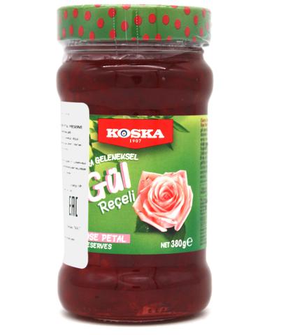 Варенье традиционное из лепестков роз, Koska, 380 г