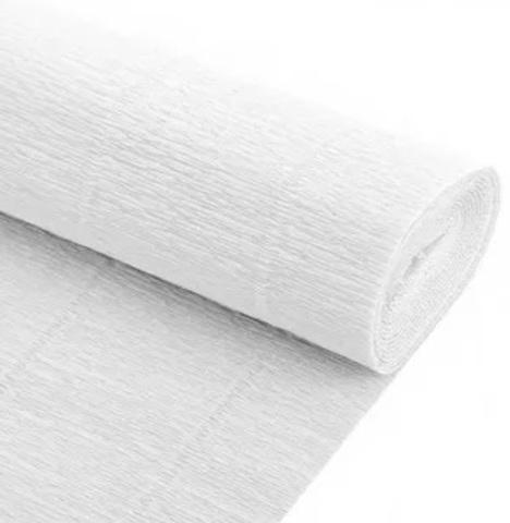 Бумага гофрированная, цвет 600 белый, 180г, 50х250 см, Cartotecnica Rossi (Италия)