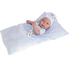 Munecas Antonio Juan Кукла-младенец Пипо (мальчик) в голубом, 42 см (5055B)