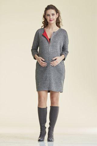 Платье для беременных и кормящих 08689 серый
