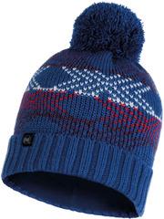 Шапка вязаная с флисом Buff Hat Knitted Polar Garid Blue