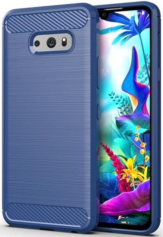 Чехол LG V50S (G8X) цвет Blue (синий), серия Carbon, Caseport