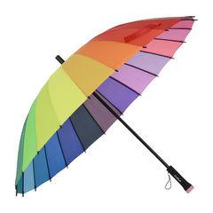 Зонт-трость Радуга (24 цвета)