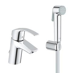 Смеситель для раковины с гигиеническим душем Grohe Eurosmart 23124002 фото