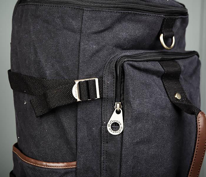 BAG368-1 Городская тканевая сумка рюкзак с ремнем на плечо фото 03