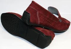 Красные мокасины мужские IKOC 1555-3 Red.