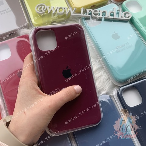Чехол iPhone 11 Pro Max Silicone Case Full /marsala/