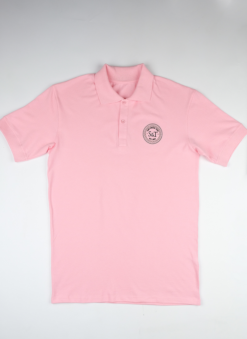 Поло S&T slim fit rose0902