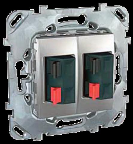 Аудиорозетка двойная. Цвет Алюминий. Schneider electric Unica Top. MGU5.8787.30ZD
