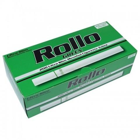 Slim ! Сигаретные гильзы Rollo Menthol 200 шт. 6,5 mm.