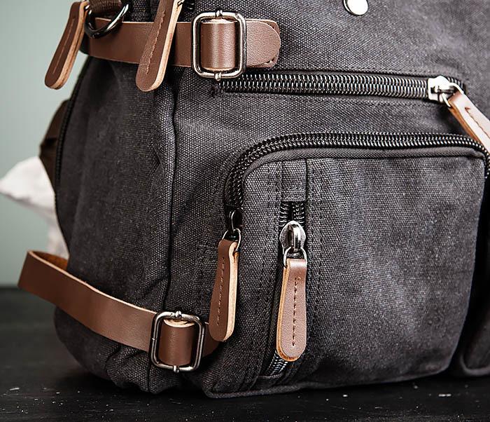 BAG475-1 Мужская сумка рюкзак «трансформер» из ткани фото 03