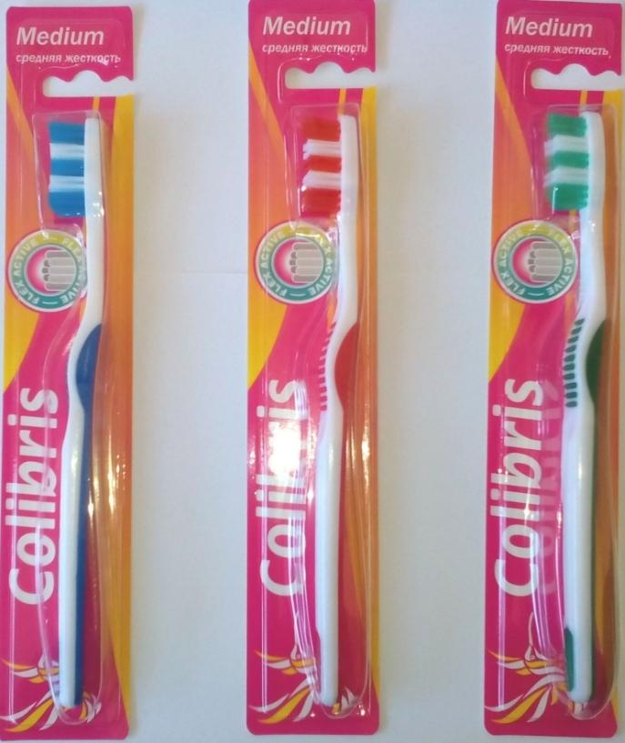 Зубная щетка арт.0912 средняя жесткость К40