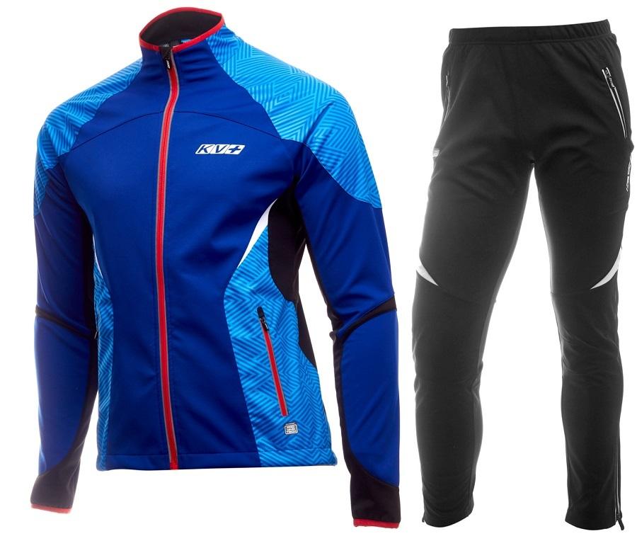 Утепленный лыжный костюм KV+ Lahti синий