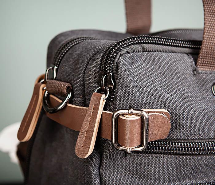 BAG475-1 Мужская сумка рюкзак «трансформер» из ткани фото 04